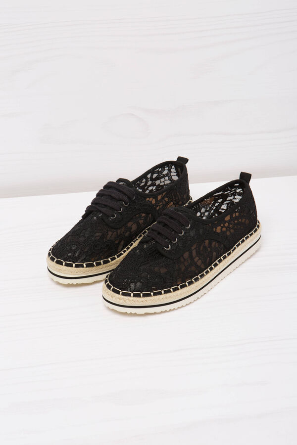Lace-up shoes in lace | OVS