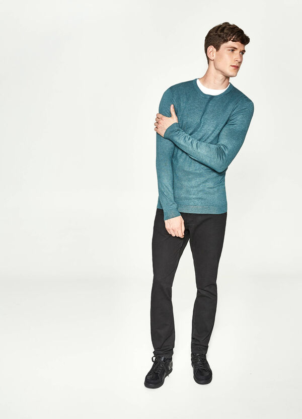 Plain, regular fit trousers | OVS