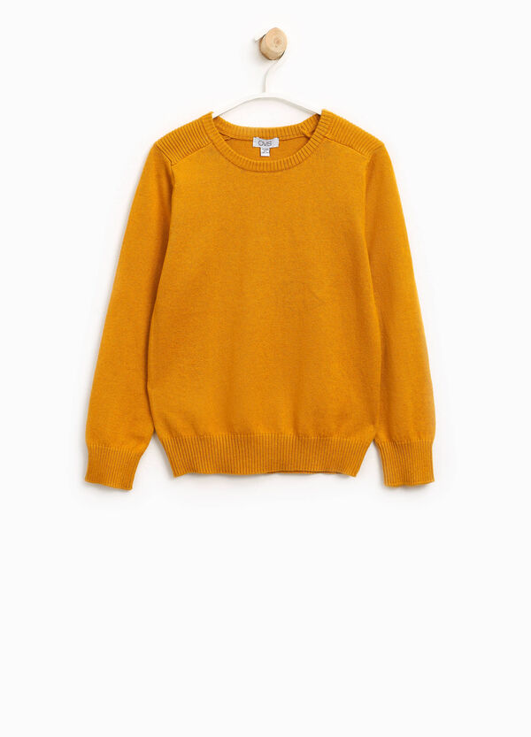 Pullover cotone e lana tinta unita | OVS