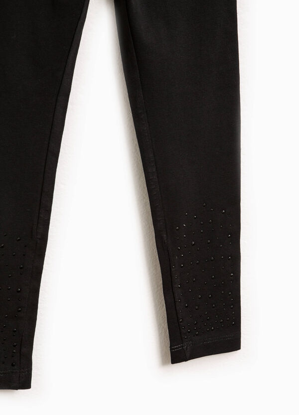 100% stretch cotton leggings | OVS