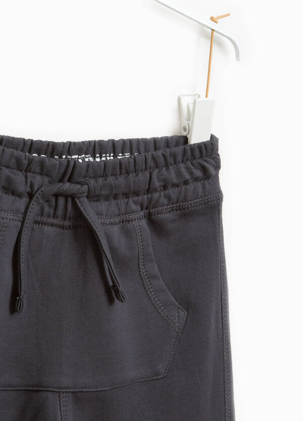 Pantaloni tuta cotone tasca a marsupio | OVS