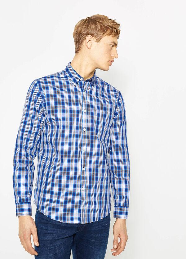 Camicia casual in misto cotone tartan | OVS