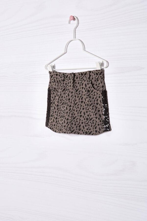 Stretch cotton animal print skirt | OVS