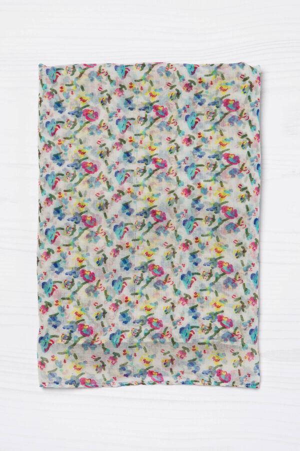 Sciarpa con stampa floreale | OVS