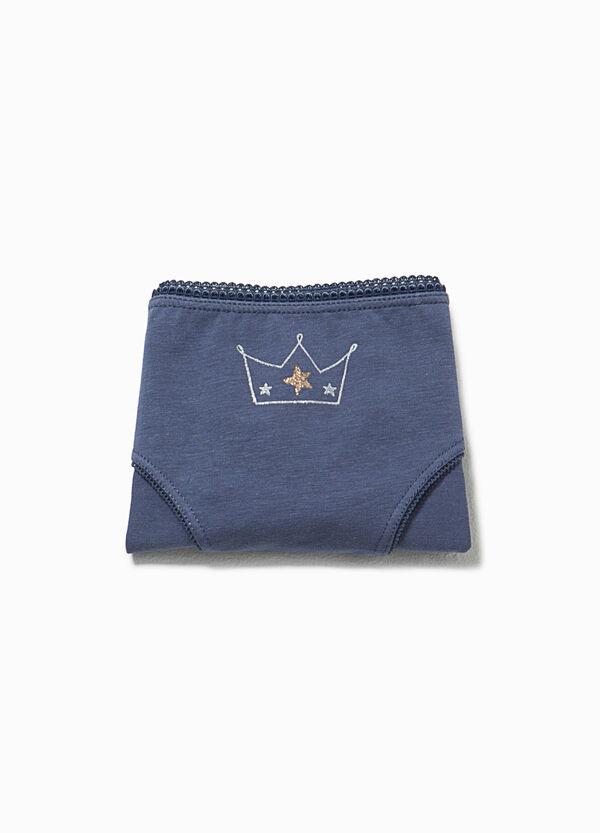 Briefs with glitter crown print | OVS