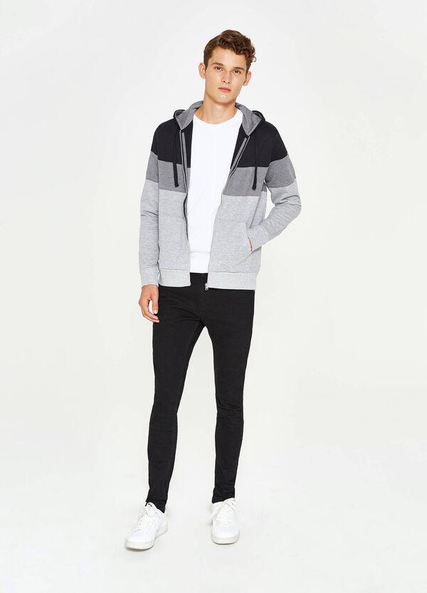 Cotton blend striped sweatshirt | OVS
