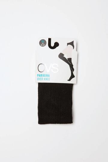 Cotton blend overknee socks.