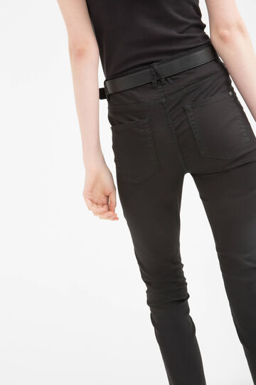 Stretch trousers with high waist