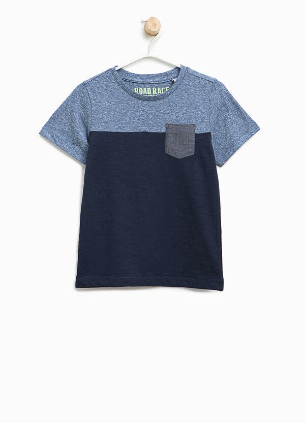 T-shirt bicolore in cotone stretch | OVS