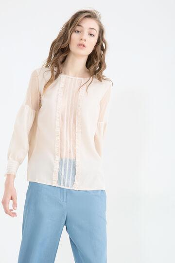 Semi-sheer lace blouse