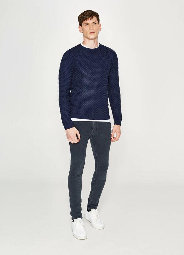 Pullover in cotone lavorato tricot   OVS