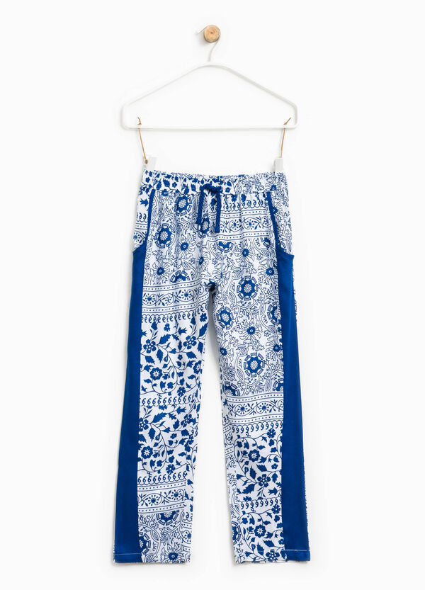 All-over floral print trousers | OVS