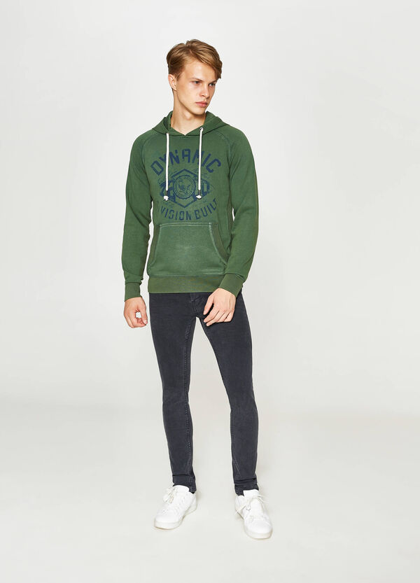 Sweatshirt with print and hood | OVS