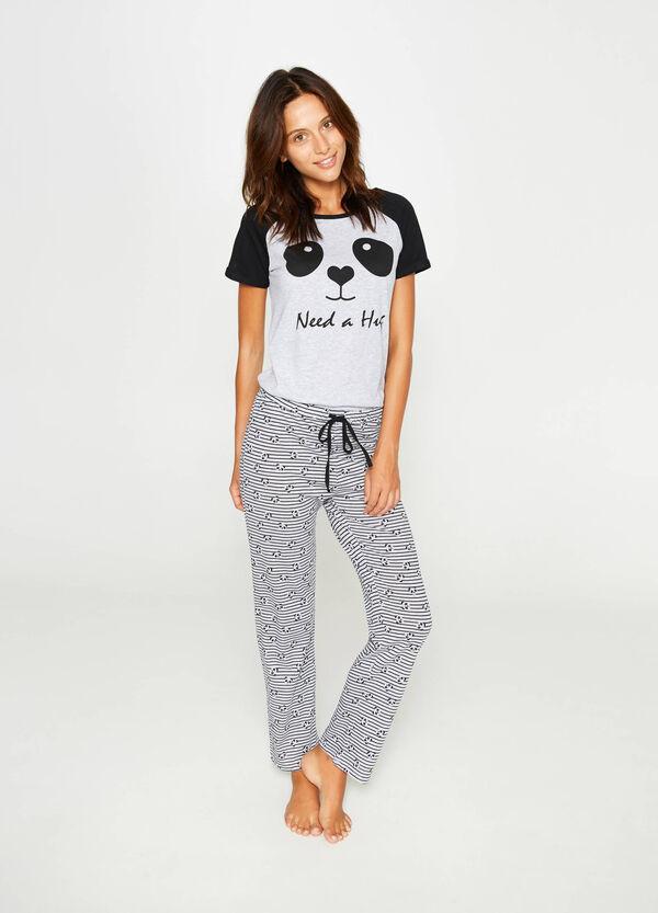 Cotton pyjamas with animal print | OVS