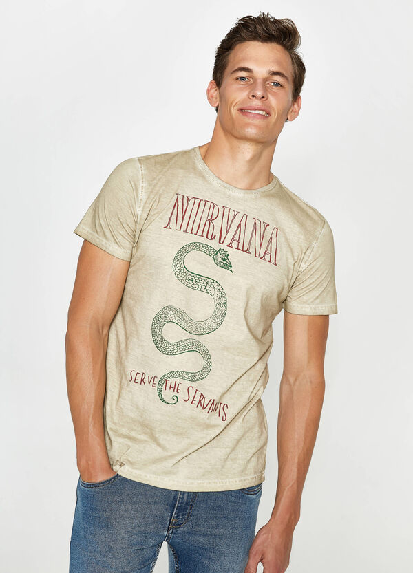 T-shirt in cotone stampa Nirvana   OVS