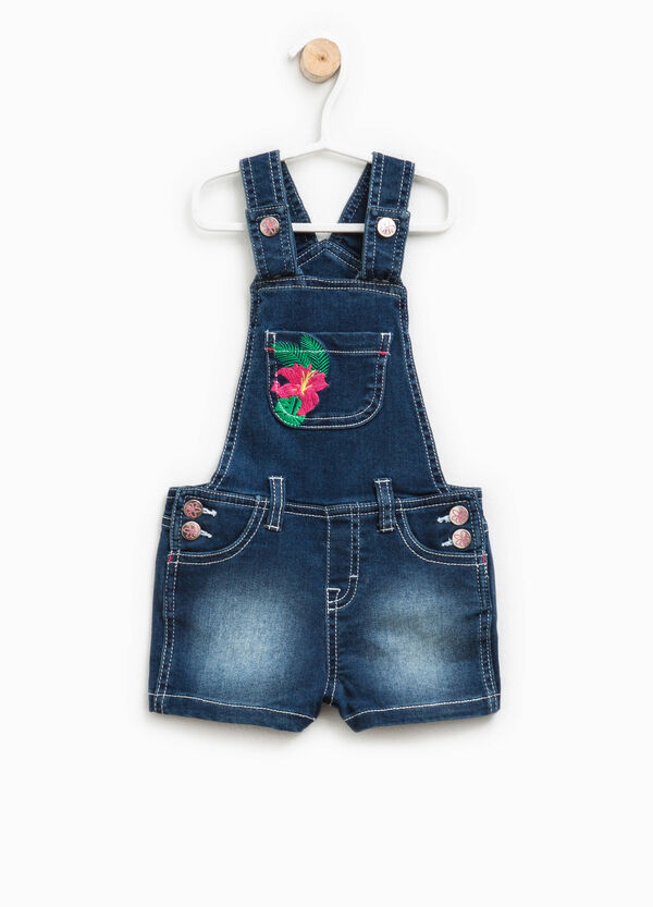 Denim dungarees with embroidery | OVS