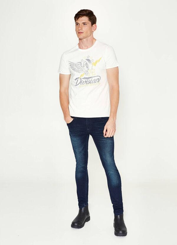 T-shirt in cotone con stampa   OVS