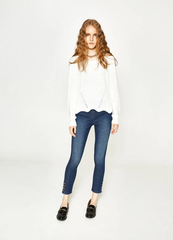 Jeans skinny fit stretch con bottoni   OVS