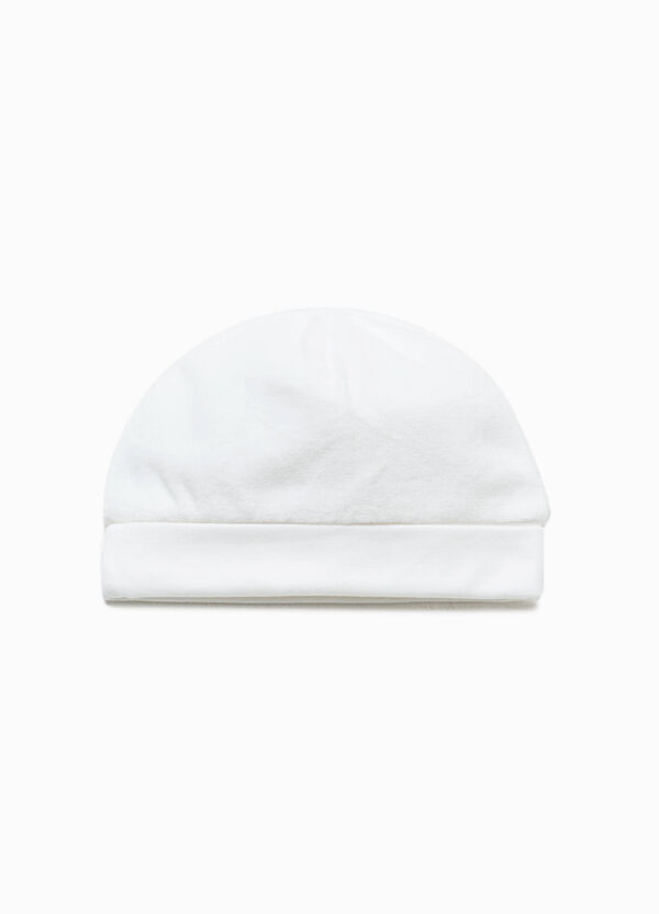 Cappello a cuffia in velour di cotone | OVS
