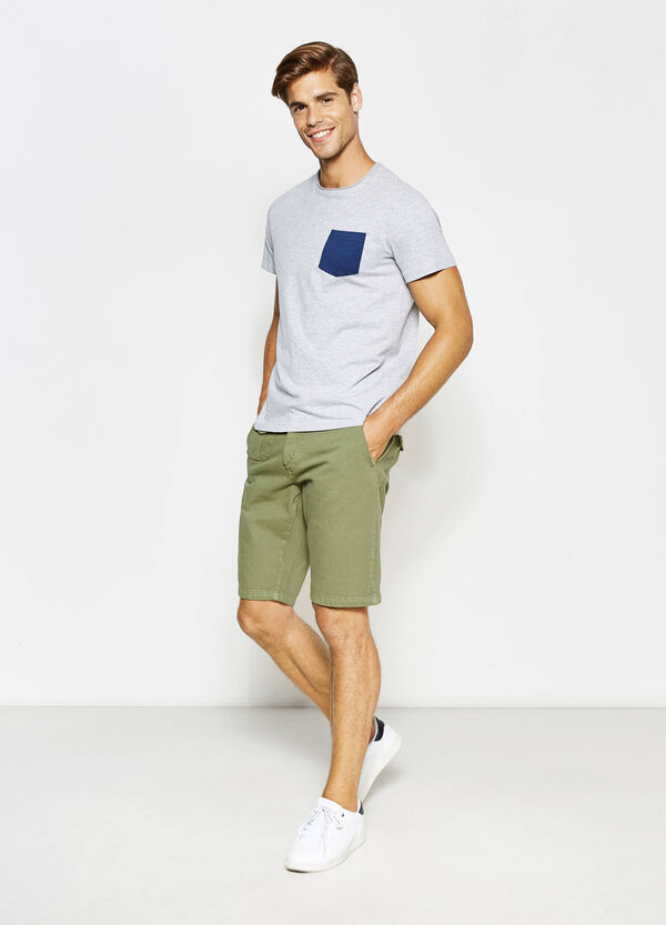 Slim-fit cotton chino Bermuda shorts | OVS