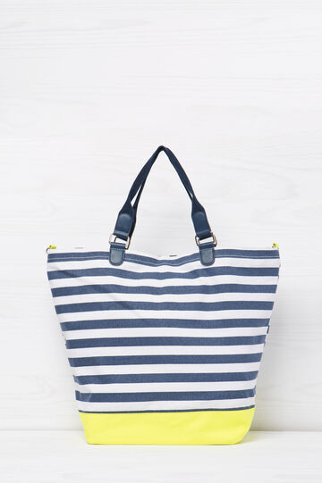 Striped cotton handbag