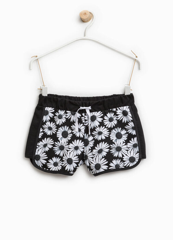 Shorts cotone stampa margherite | OVS
