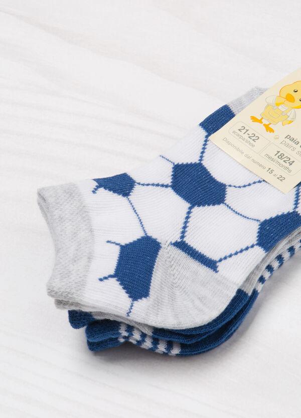 Three-pair pack short patterned socks   OVS