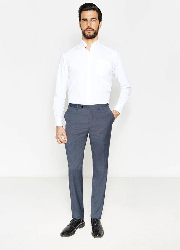 Regular-fit trousers in stretch viscose | OVS