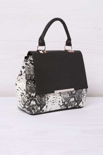 Animal print leather look handbag