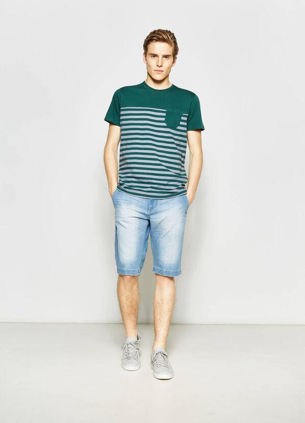 Straight-fit denim Bermuda shorts with pockets | OVS