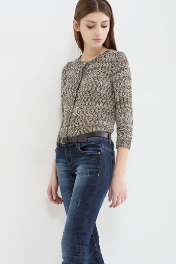 Cotton and lurex blend cardigan
