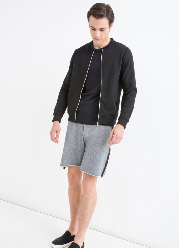 Cotton blend gym hoodie with zip | OVS