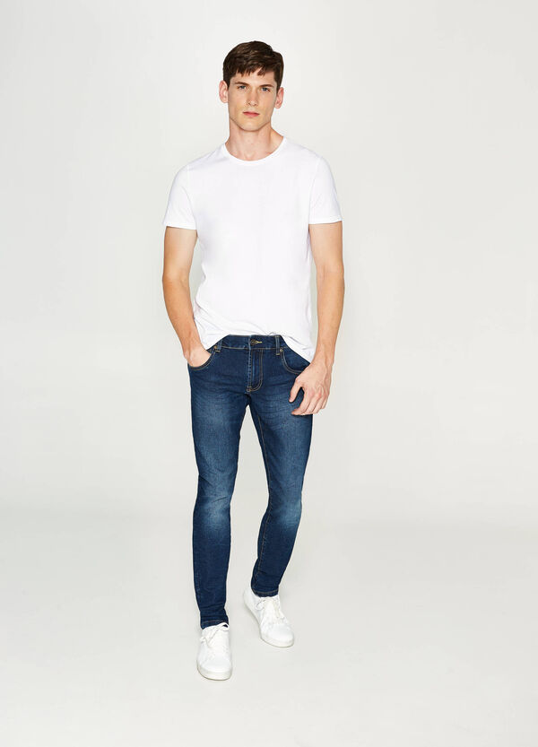 Jeans slim fit stretch effetto used | OVS