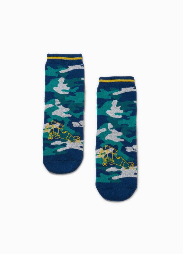 Stretch camouflage slipper socks | OVS