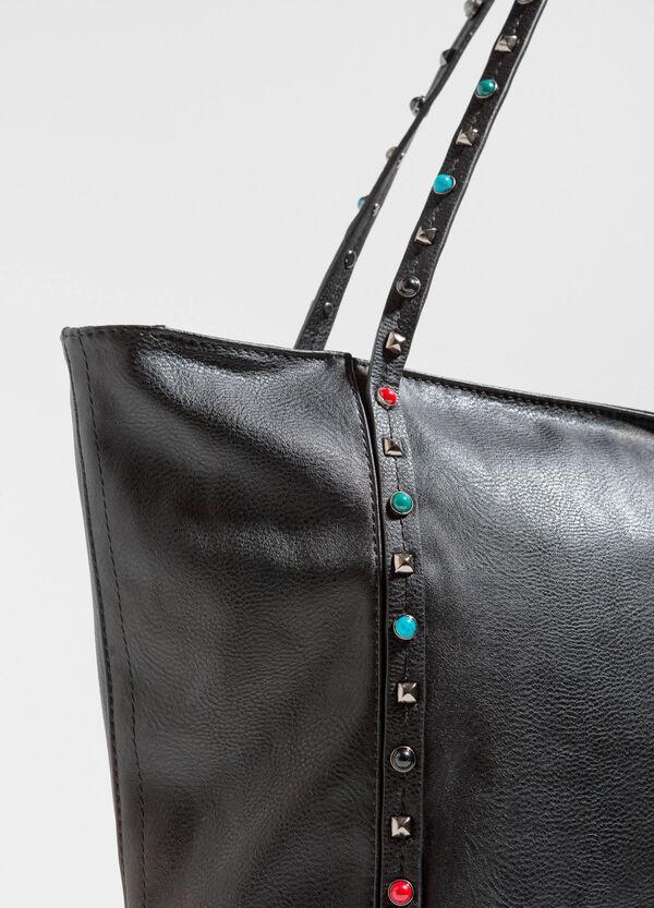 Textured shoulder bag with studs | OVS