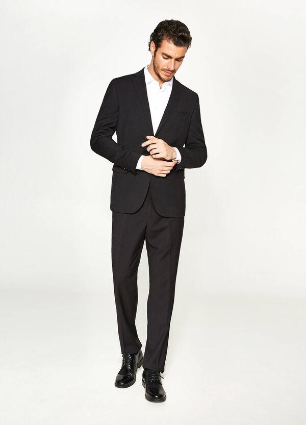 Elegant regular fit jacket in viscose | OVS