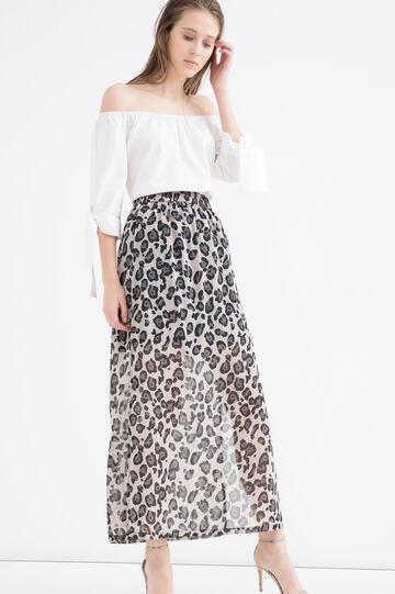 Semi-sheer long skirt