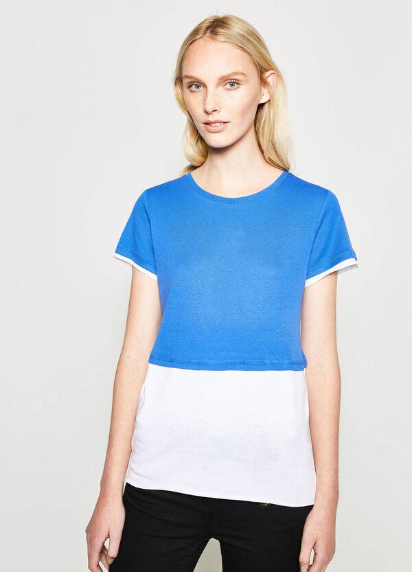 Camiseta de algodón con efecto falso doble | OVS