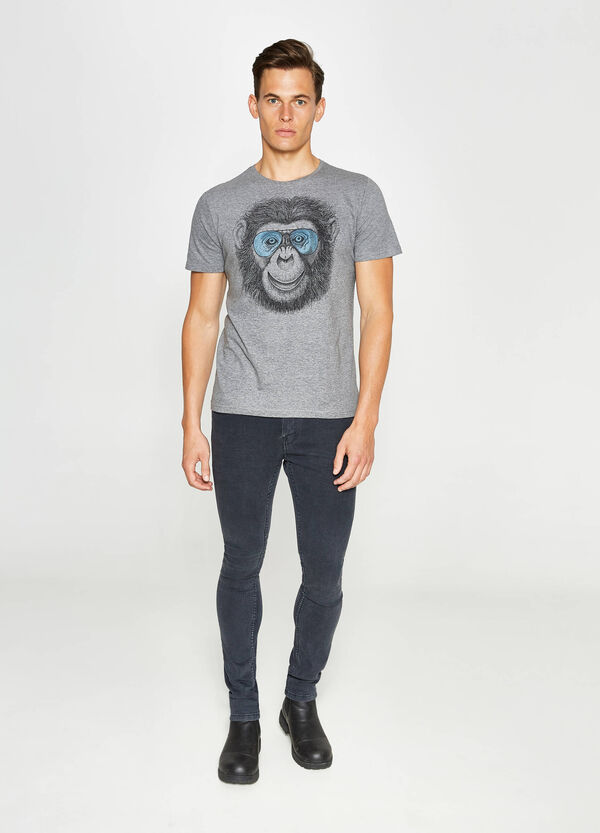 T-shirt in puro cotone con stampa   OVS