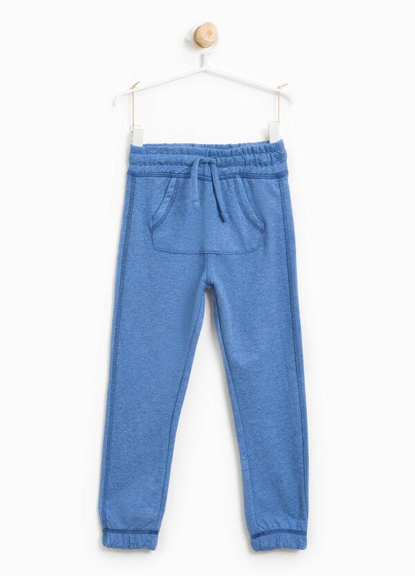 Pantaloni tuta in cotone tasca a marsupio | OVS