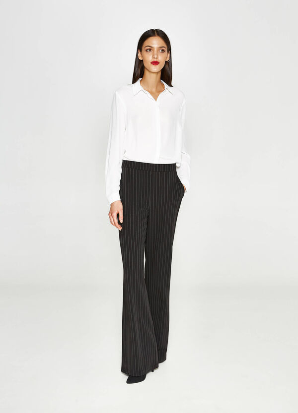 Striped pattern flared trousers | OVS