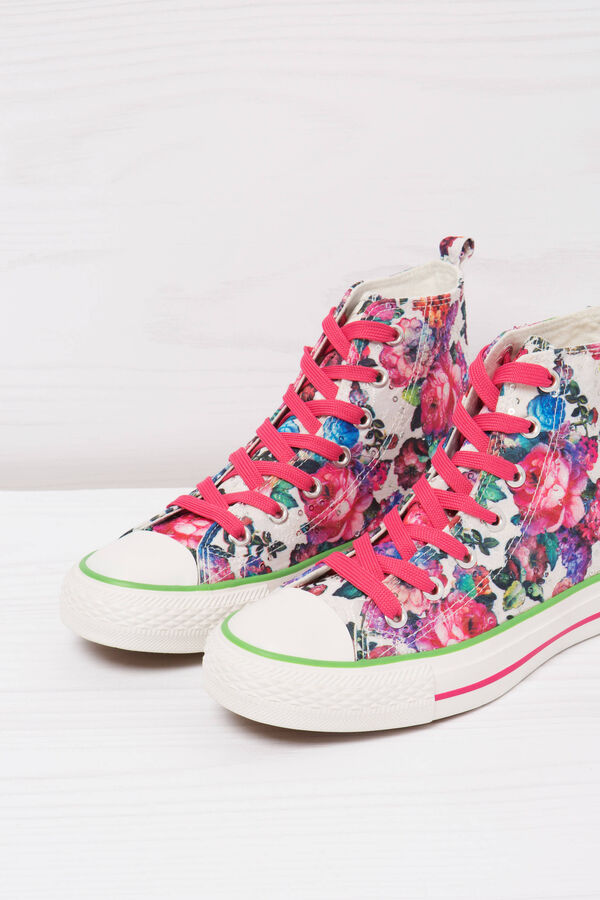 Sneakers alte stampa floreale   OVS