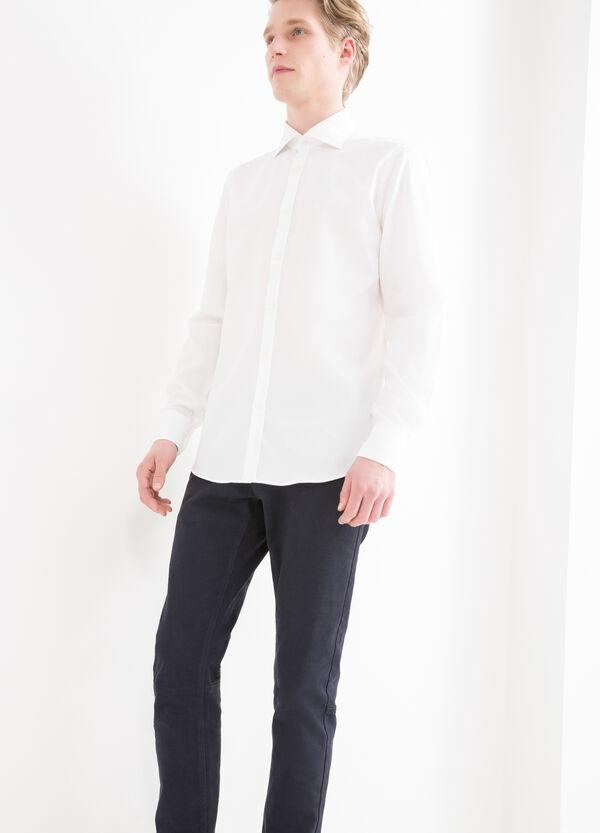 Solid colour slim fit shirt   OVS