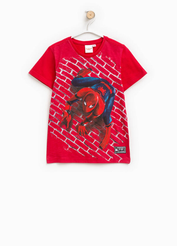 Cotton T-shirt with Spiderman print   OVS