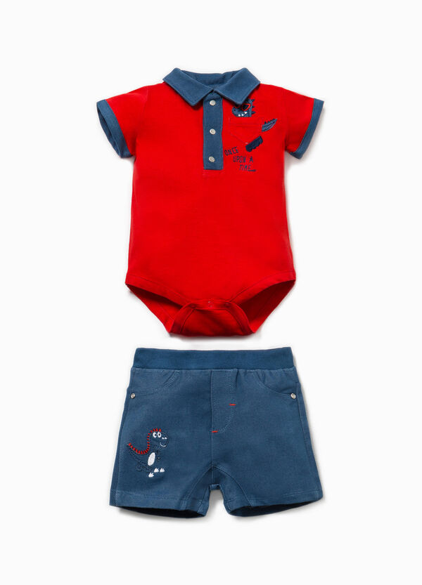 Dinosaur bodysuit and shorts set | OVS