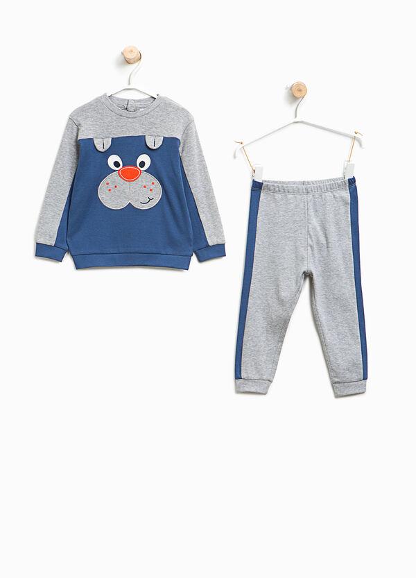 Organic cotton pyjamas with puppy patch | OVS