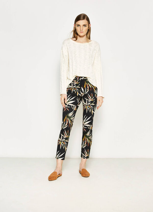 Pantaloni crop stampa florale | OVS