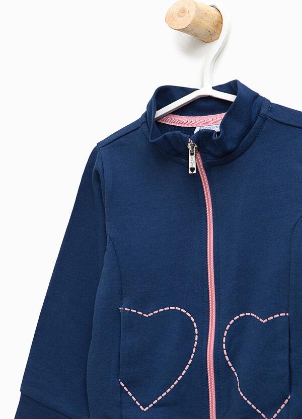Cotton sweatshirt with hearts print | OVS