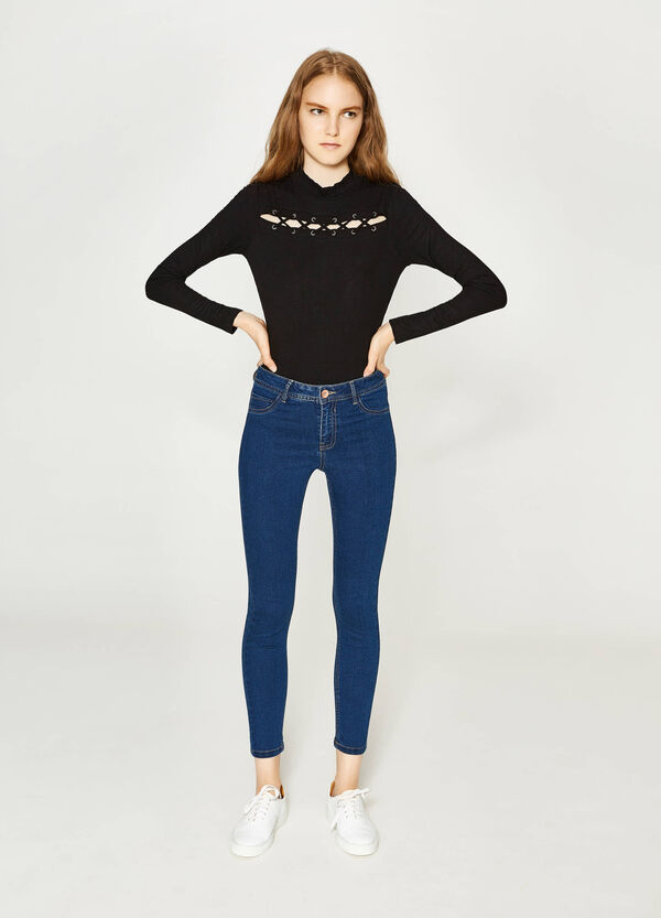 Solid colour super-skinny fit stretch jeans | OVS