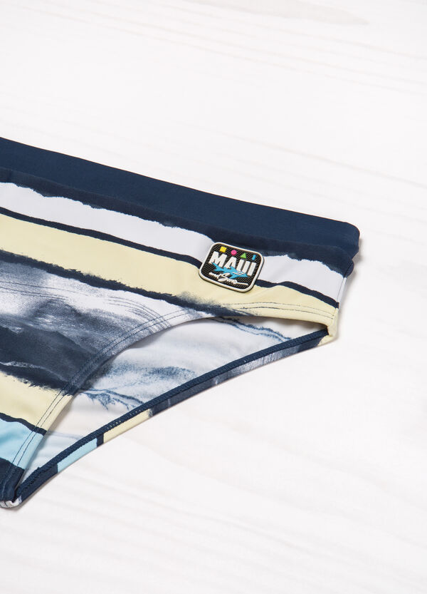 Striped swimming briefs by Maui and Sons | OVS